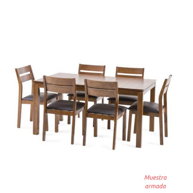 Outlet juego de comedor bently 6 sillas - Sillas comedor outlet ...